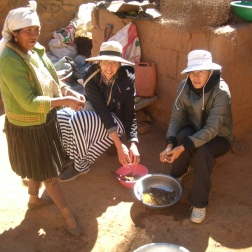 Ellen Thompson (centre) improving nutrition, one village at a time.