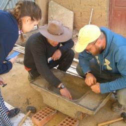 Cedarville Students helping build Sinks in T'iu Kasa